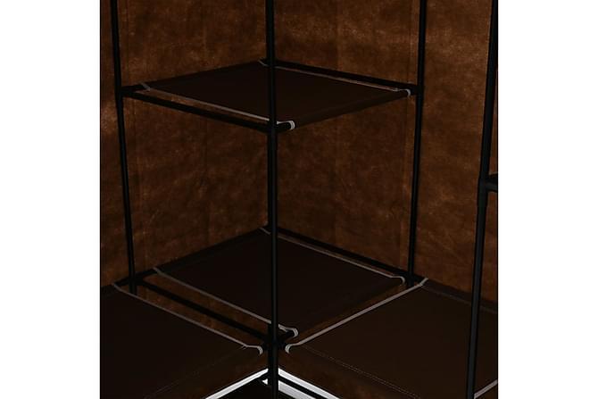 Kulmavaatekaappi ruskea 130x87x169 cm - Ruskea - Huonekalut - Säilytys - Vaatekaapit