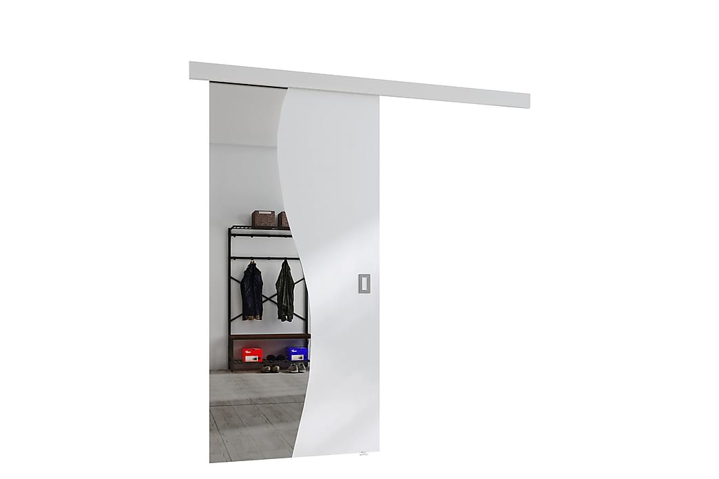 Liukuovi Skeppinge peilillä - Valkoinen - Huonekalut - Säilytys - Vaatekaapit