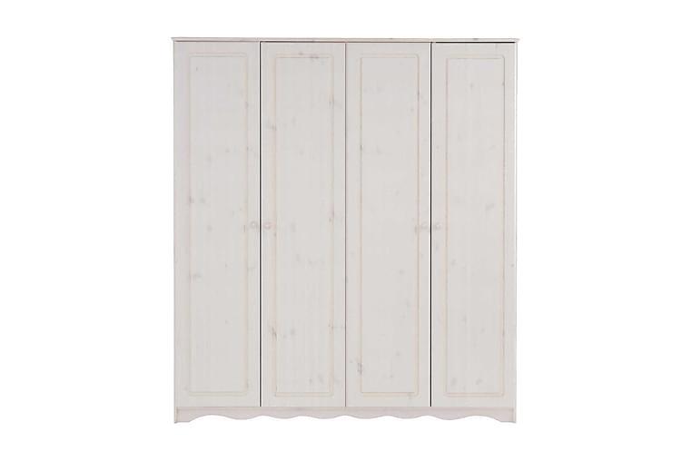 Vaatekaappi Adea 170 cm - Valkoinen - Huonekalut - Säilytys - Vaatekaapit