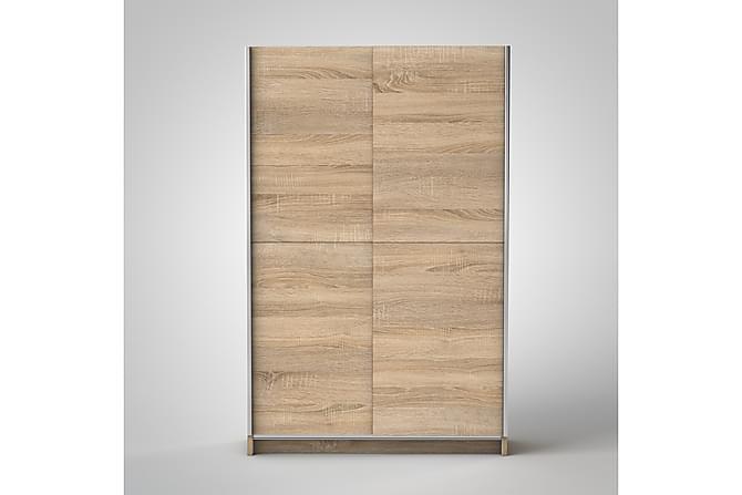 Vaatekaappi Carmanville 196 cm - Puu/Luonnonväri - Huonekalut - Säilytys - Vaatekaapit