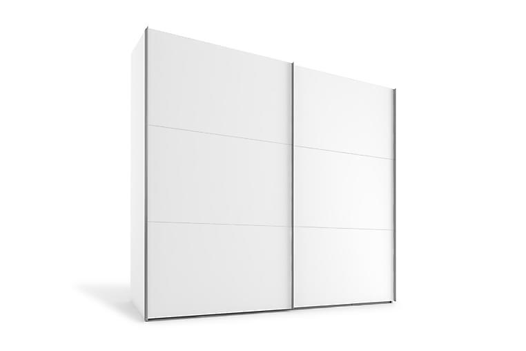 Vaatekaappi Dundridge 250 cm - Valkoinen - Huonekalut - Säilytys - Vaatekaapit