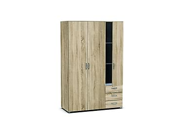 Vaatekaappi Fatima 121 cm 3 ovea 3 laatikkoa