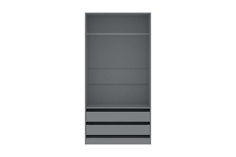 Vaatekaappi harmaa 100x50x200 cm lastulevy - Harmaa - Huonekalut - Säilytys - Vaatekaapit