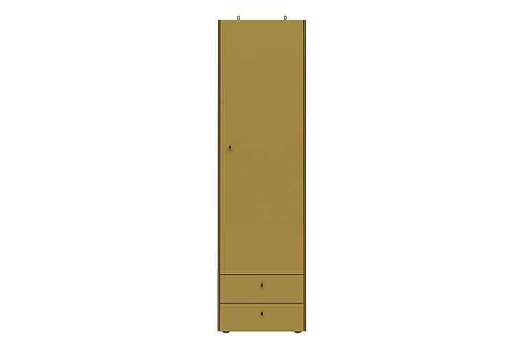 Vaatekaappi Monteo 55 cm Ovi 2 laatikkoa - Keltainen - Huonekalut - Säilytys - Vaatekaapit