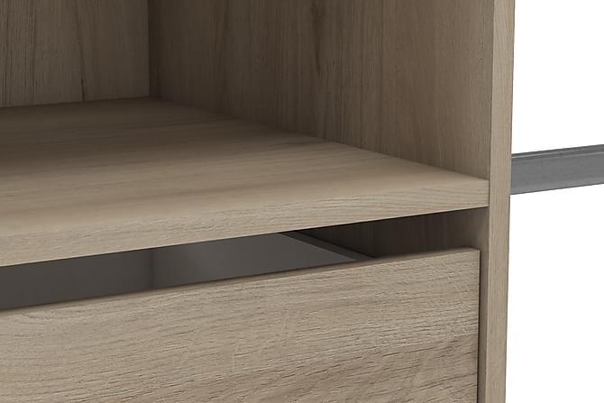 Vaatekaappi Rimac 184,5 cm - Ruskea - Huonekalut - Säilytys - Vaatekaapit