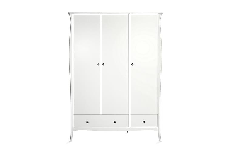 Vaatekaappi Sereno 143 cm 3 ovea - Valkoinen - Huonekalut - Säilytys - Vaatekaapit