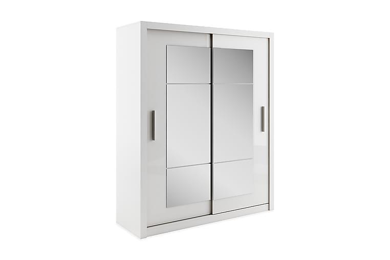 Vaatekaappi Sharmila 180 cm 2 liukuovea - Valkoinen - Huonekalut - Säilytys - Vaatekaapit