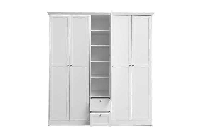 Vaatekaappi Viskan 187 cm - Valkoinen - Huonekalut - Säilytys - Vaatekaapit