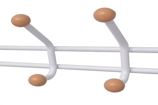 Vaatenaulakko kenkätelineellä 68x32x182,5 cm Valkoinen - Valkoinen - Huonekalut - Säilytys - Vaatekaapit
