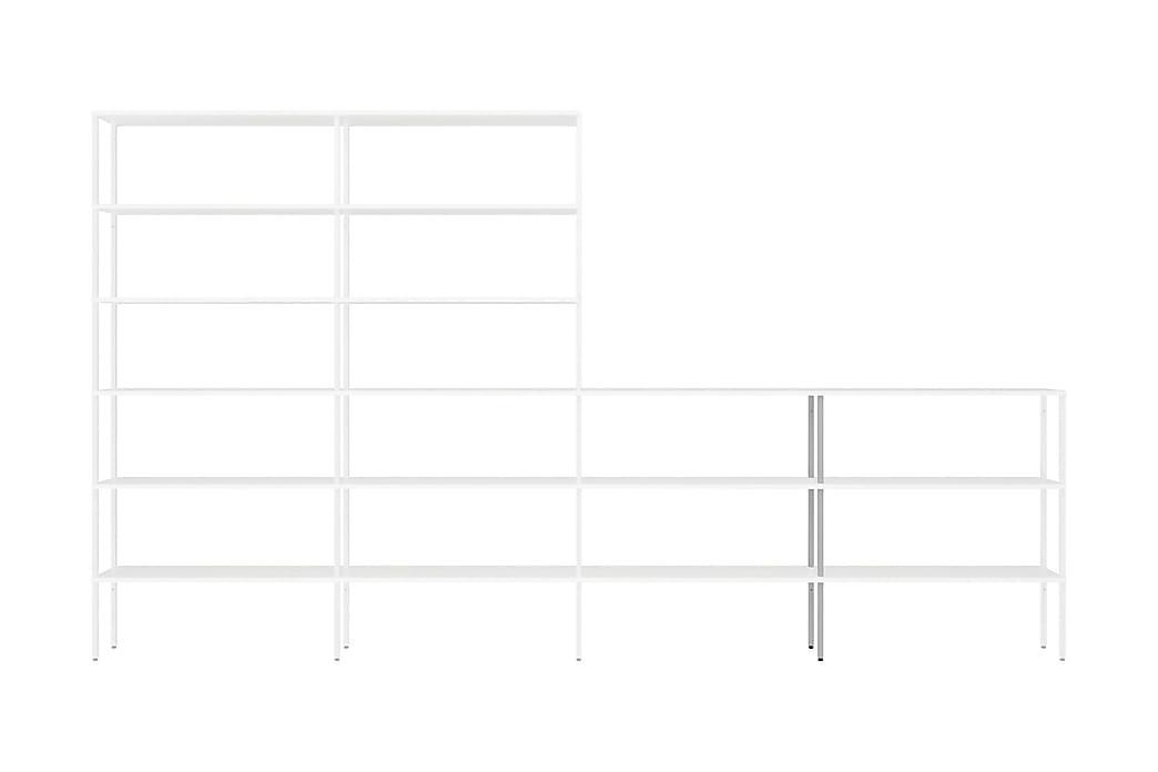 Tolppa Miksa 2x108 cm Matala Keskiosa 2-pak Pysty - Valkoinen Metalli - Sisustustuotteet - Naulakot - Koukkunaulakot