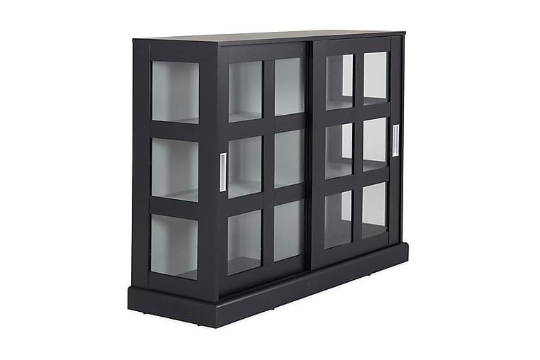Lasikaappi Mazie 120 cm - Musta/Vaaleanharmaa - Huonekalut - Säilytys - Vitriinit