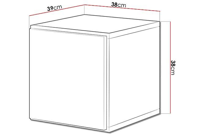Vitriinikaappi Roco 37,5x39x37,5 cm - Valkoinen - Huonekalut - Säilytys - Vitriinit
