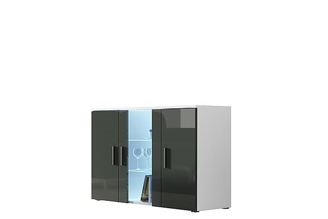 Vitriinikaappi Soho 120x41x80 cm - Valkoinen - Huonekalut - Säilytys - Vitriinit
