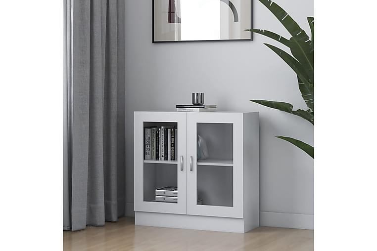 Vitriinikaappi valkoinen 82,5x30,5x80 cm lastulevy - Valkoinen - Huonekalut - Säilytys - Vitriinit