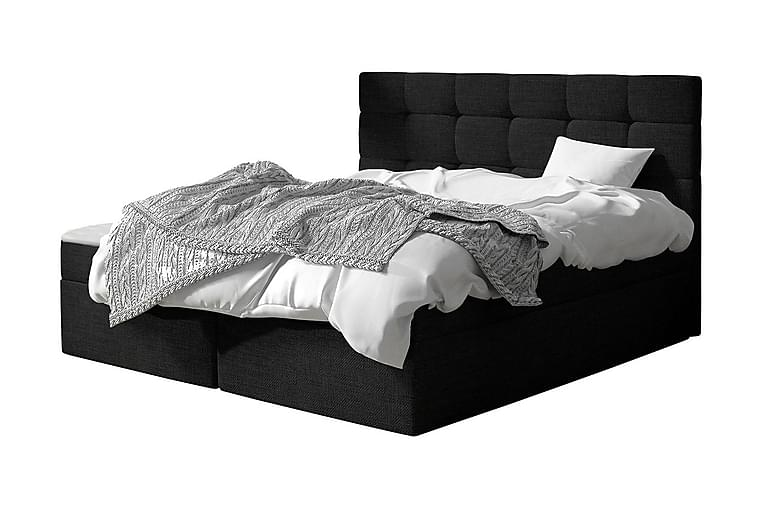 Jenkkisänky Bruvold 160x200 cm - Musta - Huonekalut - Sängyt - Jenkkisängyt