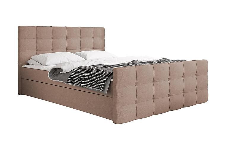 Jenkkisänky Dihel 180x210 cm - Vaaleanpunainen | Beige - Huonekalut - Sängyt - Jenkkisängyt