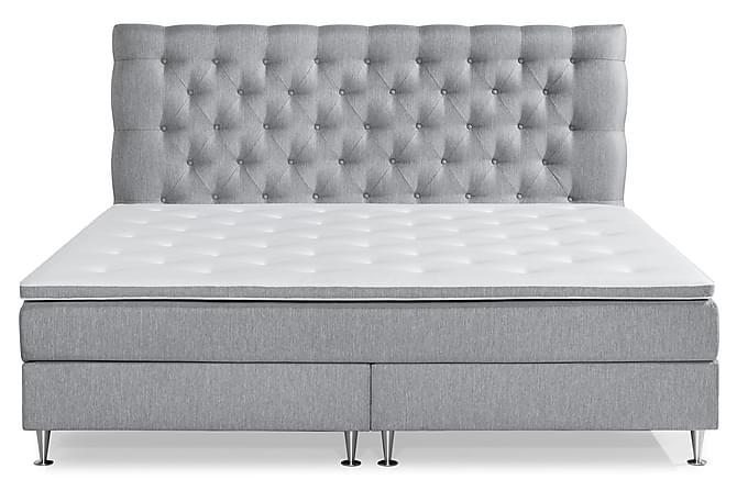 Sänkypaketti Lindvik Deluxe 210x210 - Harmaa - Huonekalut - Sängyt - Jenkkisängyt