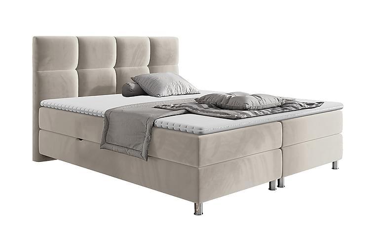 Sänkypaketti Riells 140x200 cm - Beige - Huonekalut - Sängyt - Jenkkisängyt