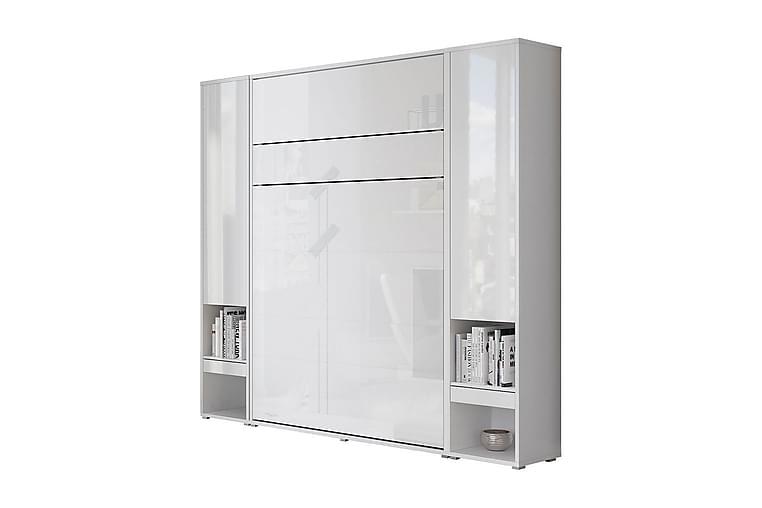 Sänkykaappi Storli LED-valaistus - Valkoinen - Huonekalut - Sängyt - Kaappisängyt