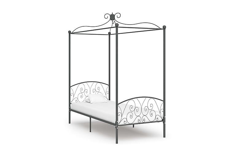 Katossängyn runko harmaa metalli 100x200 cm - Harmaa - Huonekalut - Sängyt - Katossängyt