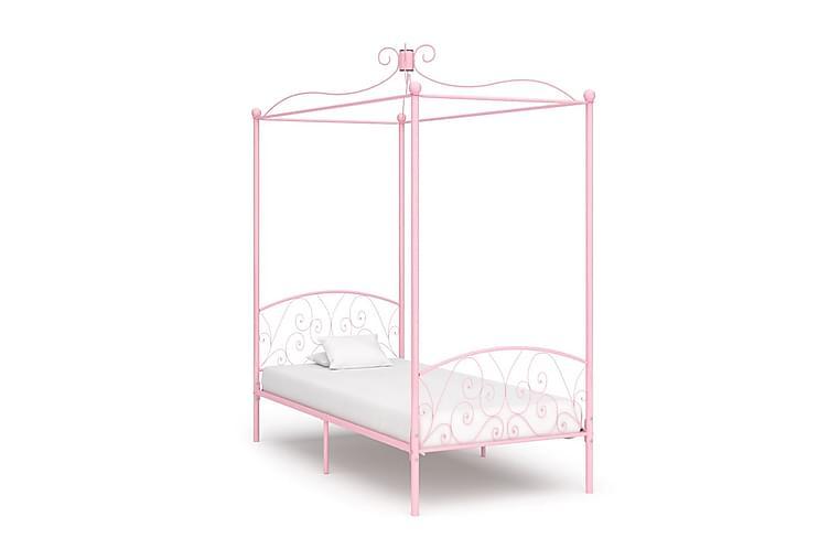 Katossängyn runko pinkki metalli 100x200 cm - Pinkki - Huonekalut - Sängyt - Katossängyt