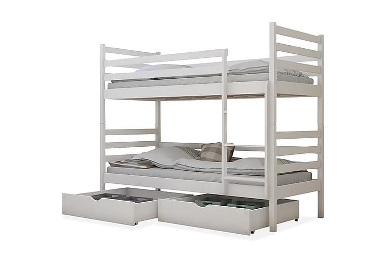Kerrossänky Carrubo 90x200 cm - Valkoinen - Huonekalut - Sängyt - Kerrossängyt