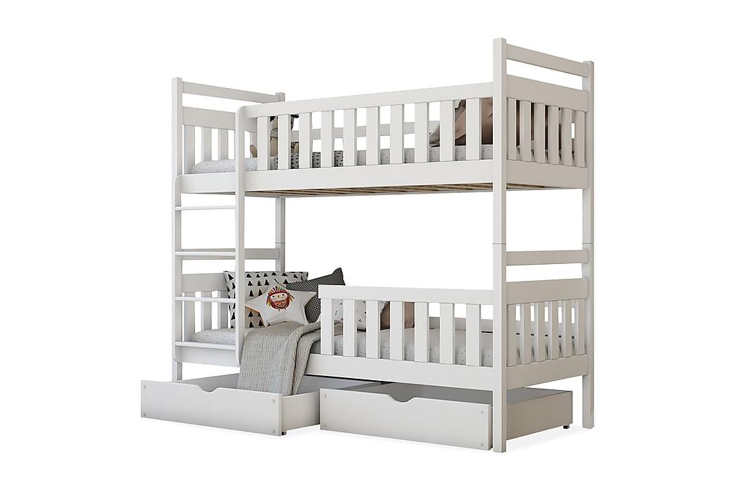 Kerrossänky Manfield 80x180 cm - Valkoinen - Huonekalut - Sängyt - Kerrossängyt