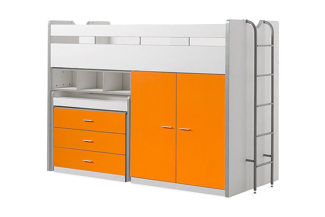 Lastensänky/Parvisänky Bringberry Säilytys - Valkoinen/Oranssi - Huonekalut - Sängyt - Kerrossängyt