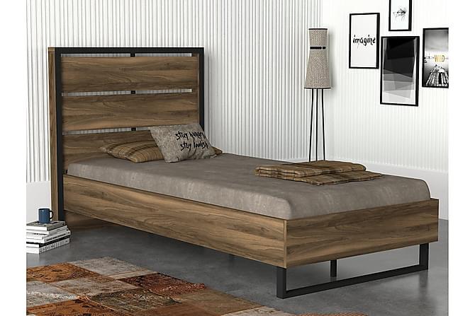 Sängynrunko Habassa 90x190 cm - Pähkinä - Huonekalut - Sängyt - Kerrossängyt