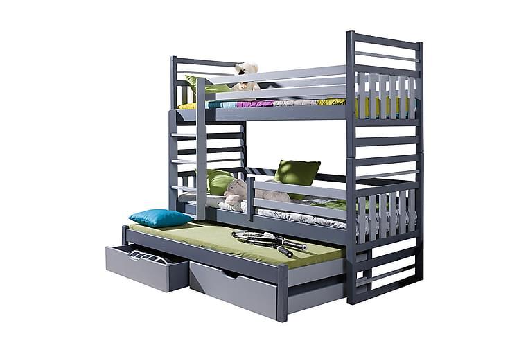 Sänky Hipolit 87x190 cm - Grafiitti - Huonekalut - Sängyt - Kerrossängyt