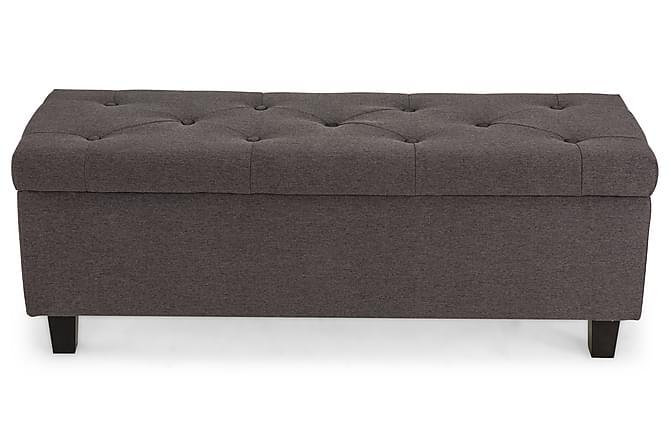 Sängynpäätyarkku Mildred Harmaa - 100x40 cm - Huonekalut - Sängyt - Makuuhuoneen säilytys