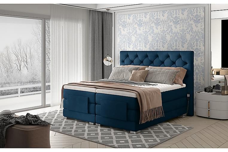 Sänkypaketti Trifolia Jenkkisänky 160x200 cm Säädettävä - Sininen - Huonekalut - Sängyt - Moottorisängyt