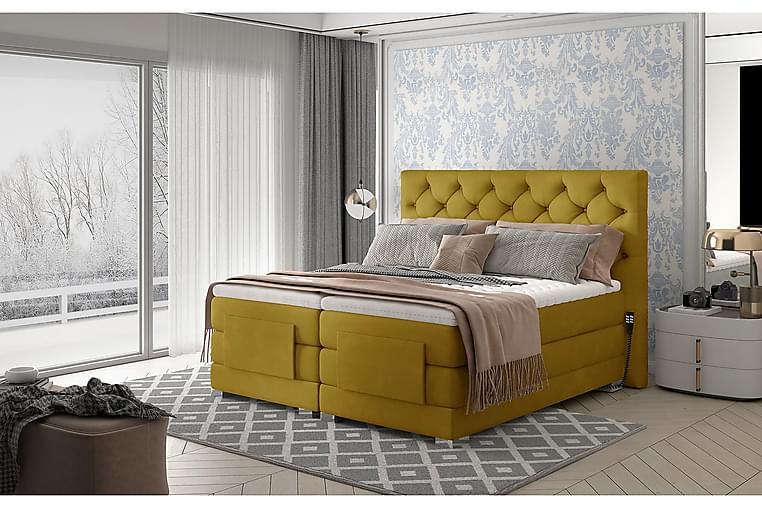 Sänkypaketti Trifolia Jenkkisänky 180x200 cm Säädettävä - Keltainen - Huonekalut - Sängyt - Moottorisängyt