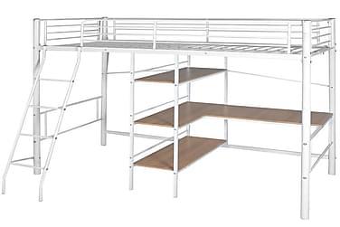 Parvisänky työpöydällä valkoinen ja ruskea metalli 90x200 cm