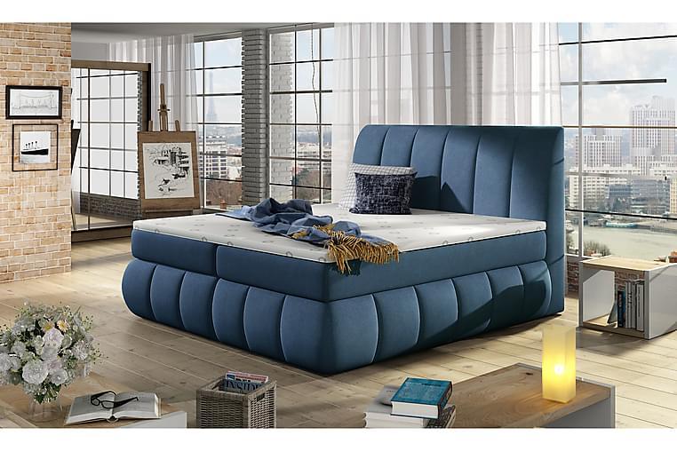 Runkosänky Borela 160x200 cm - Sininen - Huonekalut - Sängyt - Parisängyt