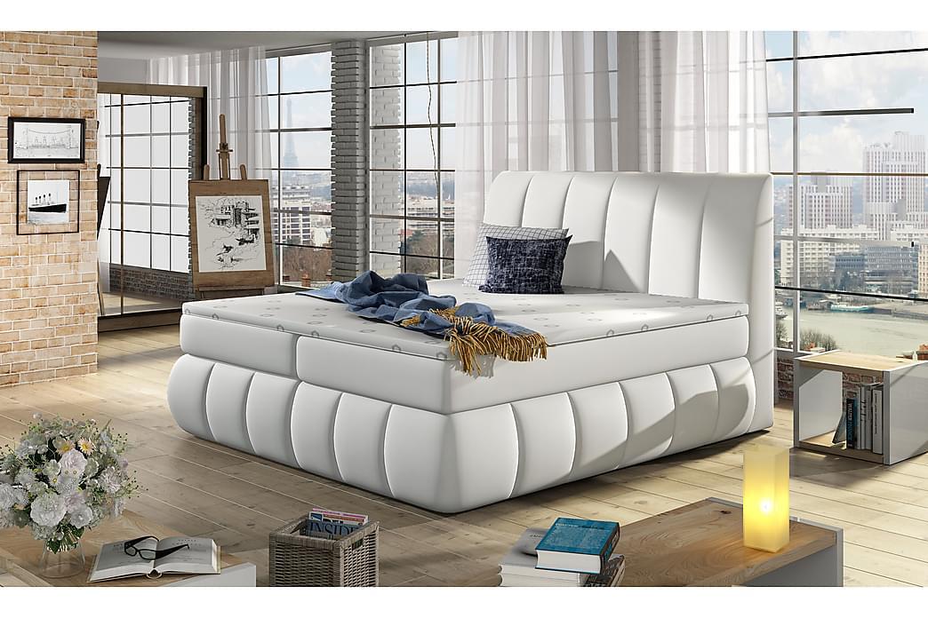 Runkosänky Borela 160x200 cm - Valkoinen - Huonekalut - Sängyt - Parisängyt