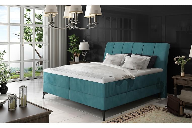 Runkosänky Darnelle 160x200 cm - Sininen - Huonekalut - Sängyt - Parisängyt