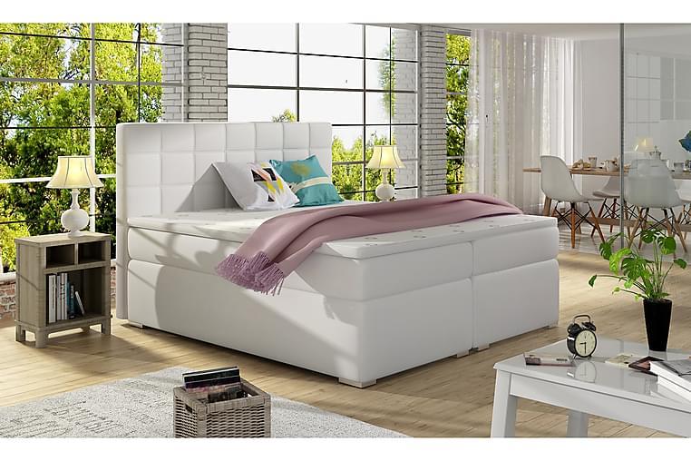 Runkosänky Jonge 160x200 cm - Valkoinen - Huonekalut - Sängyt - Parisängyt