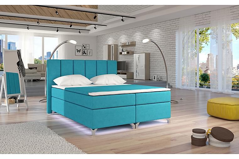 Runkosänky Soranda 160x200 cm - Sininen - Huonekalut - Sängyt - Parisängyt