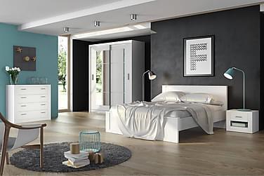 Sängynrunko Ida 160x200 cm Valkoinen