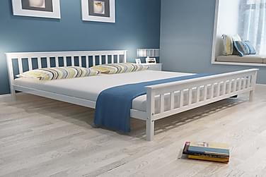Sängynrunko täysi mänty valkoinen 180x200 cm