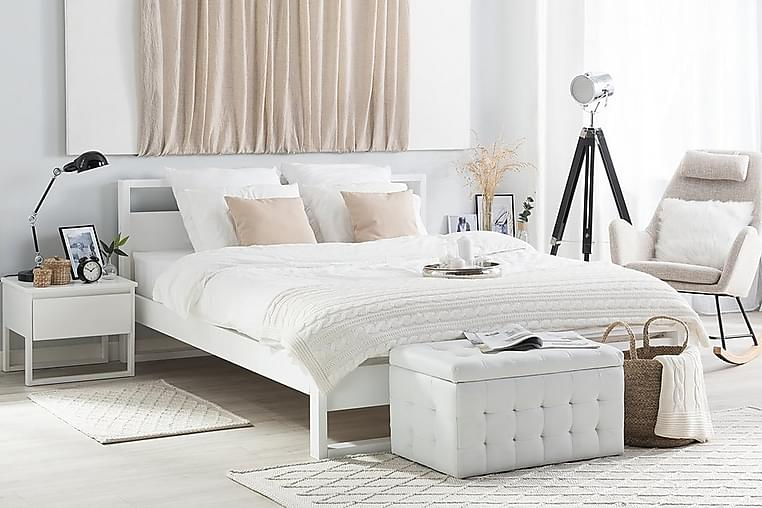 Parivuode Giulia 140x200 cm - Valkoinen - Huonekalut - Sängyt - Runkopatjasängyt
