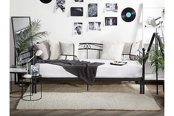 Parivuode Tulle 90-180x200 cm - Musta - Huonekalut - Sängyt - Runkopatjasängyt