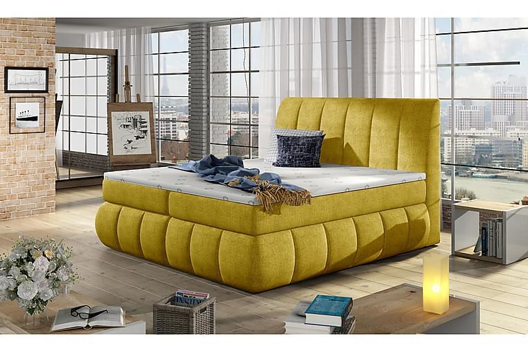 Runkosänky Borela 180x200 cm - Keltainen - Huonekalut - Sängyt - Parisängyt