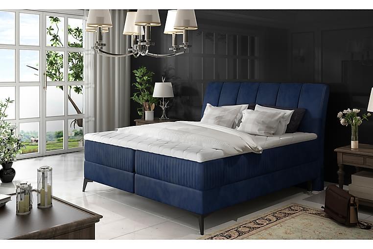Runkosänky Darnelle 140x200 cm - Sininen - Huonekalut - Sängyt - Parisängyt