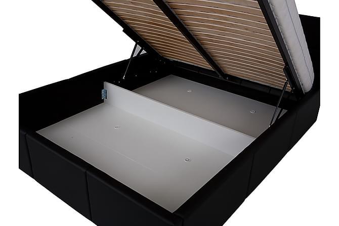 Runkosänky Frick - Musta - Huonekalut - Sängyt - Sänkykehikot & sängynrungot