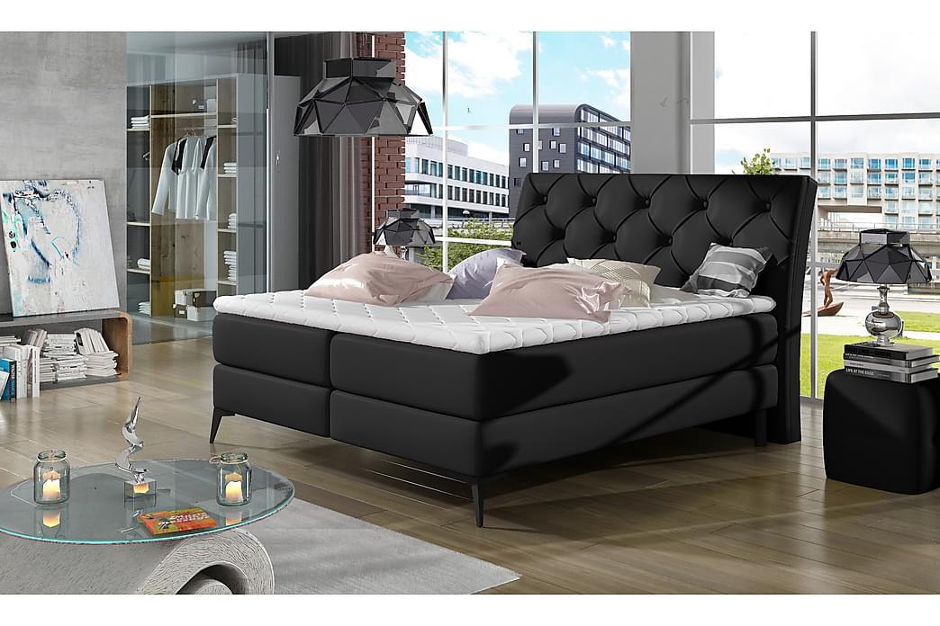 Runkosänky Gavica 140x200 cm - Musta - Huonekalut - Sängyt - Parisängyt