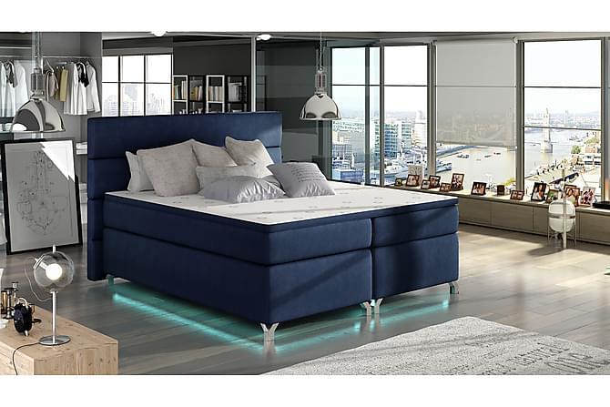 Runkosänky Lolloz 140x200 cm - Sininen - Huonekalut - Sängyt - Runkopatjasängyt