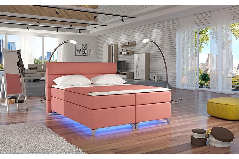 Runkosänky Lolloz 160x200 cm - Roosa - Huonekalut - Sängyt - Parisängyt