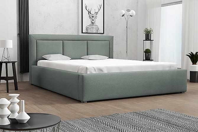 Runkosänky Modena 223x200x93 cm - Vihreä - Huonekalut - Sängyt - Runkopatjasängyt